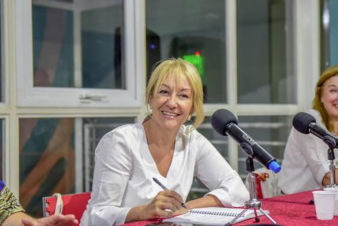 Las mujeres del FA conversan sobre la agenda de derechos con Carolina